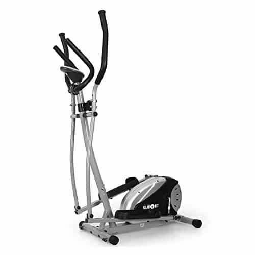 Klarfit ELLIFIT BASIC 20 Hometrainer eleganter Crosstrainer inkl. Trainingscomputer & Pulsmesser (8-stufiger Widerstand, Anzeige: Kalorienverbrauch) silber